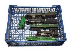Hornby Dublo 2 Rail Locomotives Denbigh Castle, 8F BR 48073, Co-Bo, 2-6-4T BR 80033 and 0-6-0T BR