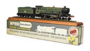 Wrenn W2400 Great Western BR 7007 with certificate 157/250, leaflet display rail and plinth (E-G,