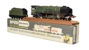 Wrenn W2405 Duchess Of Atholl BR 46231 with certificate 188/250, leaflet, short plinth and plinth