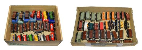 Hornby Dublo 3/2-Rail Wagons Power Ethyl white hand (boxed) 26 assorted LMS, tank wagons and
