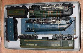 Hornby Dublo 3 Rail Dorchester BR 34042 (G) Sir Nigel Gresley (F-G, in repair box 26978, F, tender