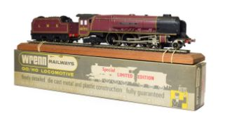 Wrenn W2401 Princess Alice LMS 6223 with certificate 109/350, leaflet, display rail, plinth and