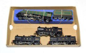 Hornby Dublo 3-Rail Locomotives L11 Mallard in box for 3211 (E-G box G-F) together with three 0-6-2T