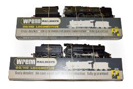 Wrenn Two Locomotives W2238 Clan Line BR35028 (G, one nameplate missing and deterioration to tender,