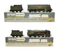 Wrenn Two Locomotives W2265AX City of Wells BR 34092 (generally E-G, one nameplate poorly restuck,