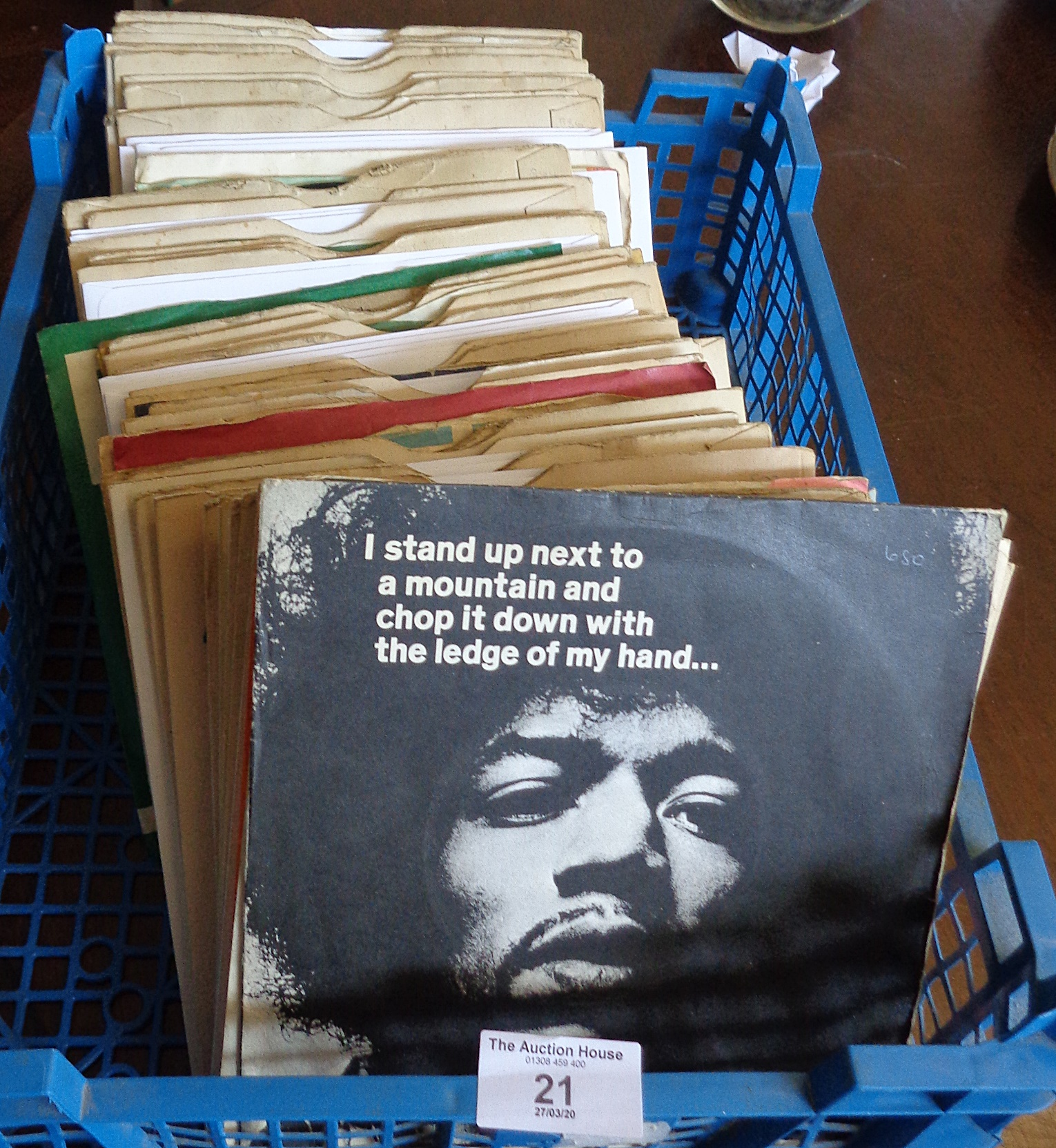 Lot 21 - Approx. 75 vinyl singles 1960's, inc. Beatles, Rolling Stones, The Who and Jimi Hendrix, etc.