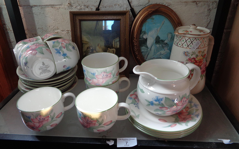 """Lot 7 - Quantity of Royal Doulton """"Carmel"""" teaware, etc."""