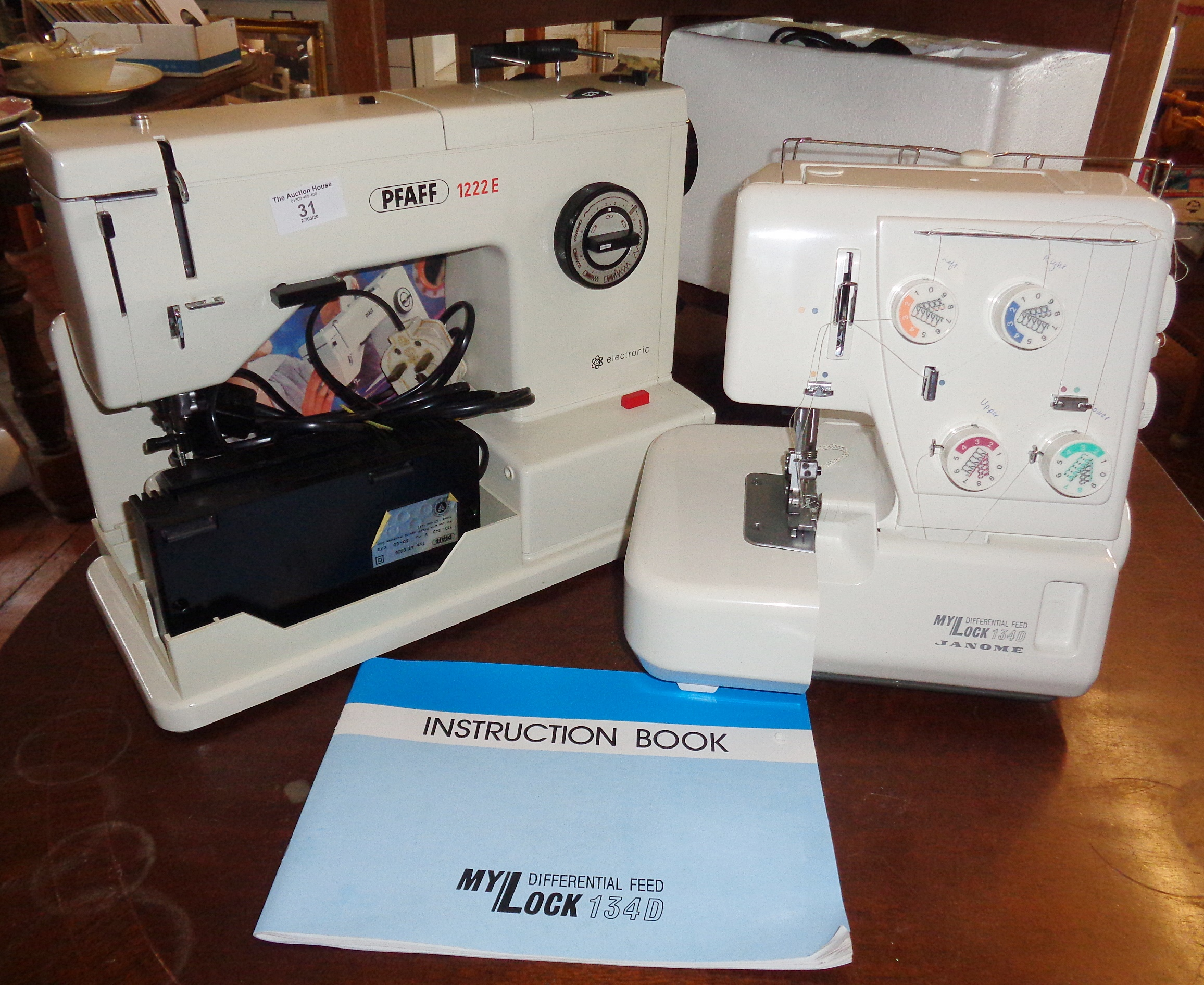 Lot 31 - Pfaff 1222E electric sewing machine and a My Lock Differential Feed 134D overlocker