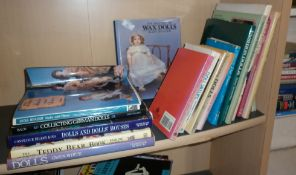 Assorted books on Dolls and Doll Collecting