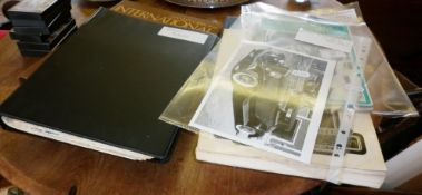 Two stamp albums and some books on films including a book of screen shots of 'The Maltese Falcon'