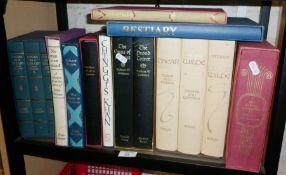 Shelf of Folio Society books