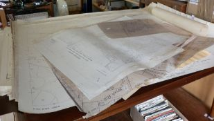 Large collection of large scale (1:2500) Ordnance Survey maps including Bridport, West Dorset and