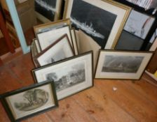Box of engravings and photographs