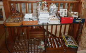 Very large collection of various souvenir, novelty and collectable porcelain and other thimbles