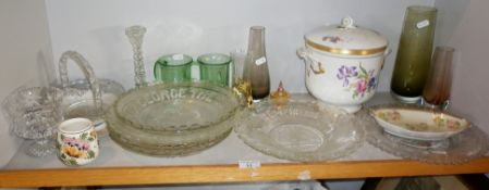 Five various pressed glass Commemorative Plates, including 1932 Empire Exhibition Glasgow and