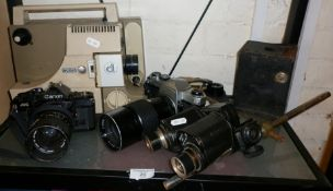 Canon AI camera, Pentax Sportmatic and other cameras