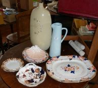 A Cauldon meat platter and other plates
