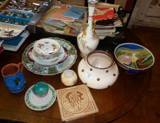 Assorted china and pottery including Royal Worcester Blush Ivory and others