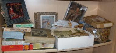 Collection of old jigsaws including Victory puzzles, Tucks and 'Coffee and Cacao Plants' puzzle by