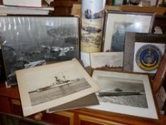 Album of sepia snapshots of liners, ships and people and other photographs including a black and