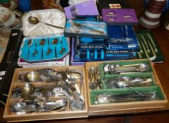 Large quantity of stainless steel cutlery, including Viners, Chelsea, Studio and Oneida patterns,