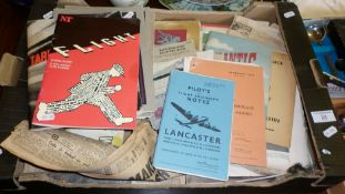 Collection of WW2 paper ephemera and 1950's The Household Brigade Magazines