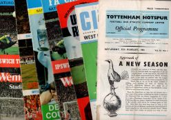 Football Programmes. Charity shield issues to include matches not played at Wembley.