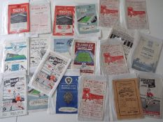 Selection of 1950s football programmes - 20 match programmes to include 2 x Fulham, Chesterfield,