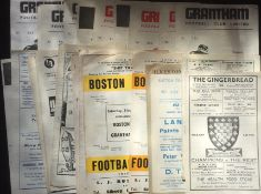 Grantham Town Football Programmes. Home issues 1960s to early 1970s and 1960s away issues (39) Good.
