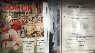 Charlton Athletic Football Programmes.