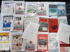 Selection of 1950s football programmes - 20 match programmes to include Bradford C,