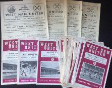 West Ham United Football Programmes.