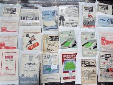 Selection of 1950s football programmes - 20 match programmes to include 3 x Barnsley, Fulham,