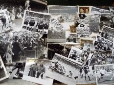 Rugby League - a collection of original press photographs relating to Warrington,