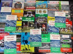 Football - a collection of 28 England international match programmes,