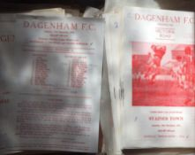 Dagenham Football Programmes.