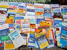 Football - a collection of approximately 150 to 180 match programmes comprising a numerous variety