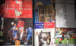 Manchester United Football Programmes. Treble season 1998 / 1999.