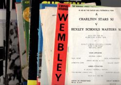 Football Programmes. An interesting selection 1960s onwards to include Finals, Internationals etc.