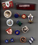Football Pin Badges. Mainly from the 1970s - 1980s era, includes coffer.