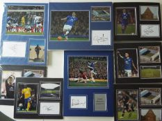 Everton Football Club - a collection of 57 photographs of Everton footballers with original