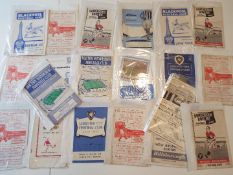 Selection of 1950s football programmes - 20 match programmes to include 2 x Bolton W, Luton,