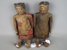 A pair of antique Chinese fertility dolls, late 19th / early 20th century,