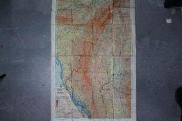 Rare WW2 RAF Silk Escape Map of India, etc.