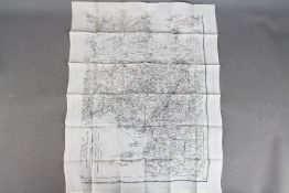 WW2 Silk Escape Map of Central Africa-Marked K5/K6. Double-sided and undated. Good condition.