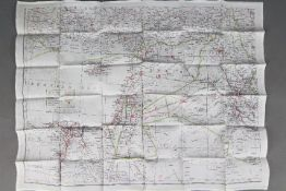 WW2 Silk Escape Map of Mediterranean and Black Sea- Undated, double-sided. Folded. Good condition.