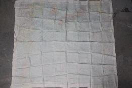 "WW2 Silk US Survival Chart - ""AFF CLOTH CHART NO-C.52 Japan and South China Seas and NO."