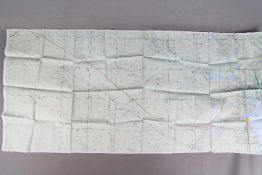 British Escape and Evasion Map of Iraq, 1990-Ministry of Defence, printed on coated fabric,