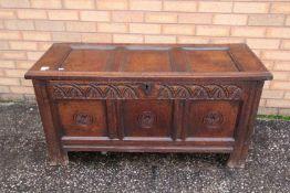 Coffer - a late 17th century oak coffer,