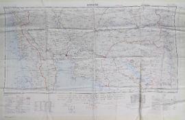 Cold War/Vietnam War Silk Escape Map of Bangkok and Saigon - War Office,